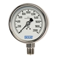 "Pressure Gauge - 1000 PSI Analog - 4"" Face w/ cal"