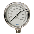 "Pressure Gauge - 3000 PSI Analog - 4"" Face w/ cal"