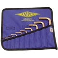 Non-Ferrous Allen Wrench Set - Inch or Metric - 10 piece